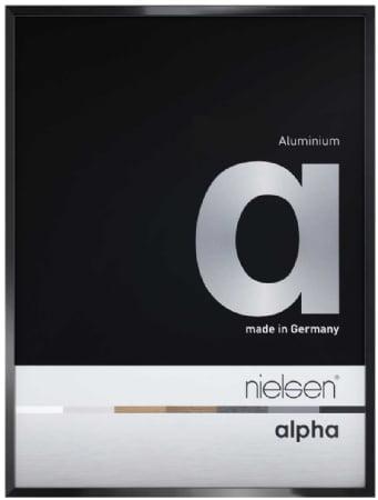 Nielson Alpha Jet Black Aluminium Frame 40x40 cm