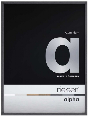 Nielson Alpha Black Oak Aluminium Frame 40x40 cm