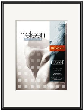 Nielson Classic Jet Black Aluminium Frame 70x50 cm