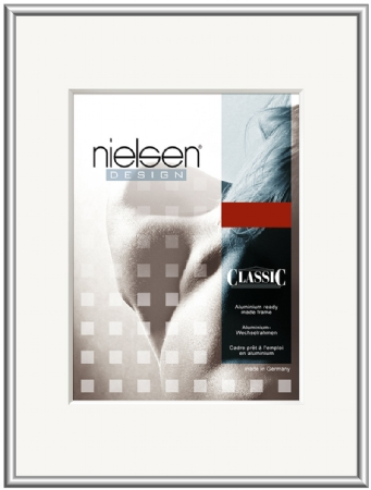 Nielson Classic Silver Aluminium Frame 100x50 cm