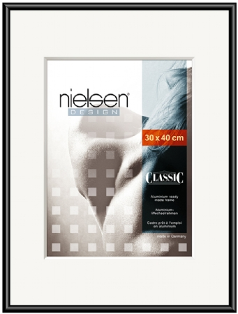 Nielson Classic Jet Black Aluminium Frame 100x50 cm